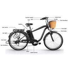 Load image into Gallery viewer, NAKTO Camel City Cruiser For Men - 250 Watt, 36V - electricbyke.com