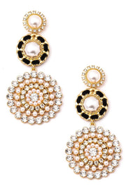 Tiered Stud Drop Earrings