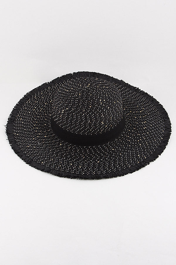 Paradise  Sun Hat - Black - Bloom By Lovlie