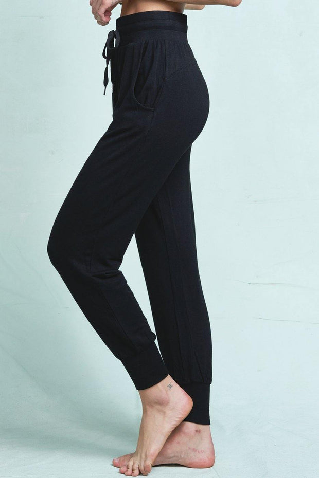 Ultra Soft Black Drawstring Jogger Sweatpants