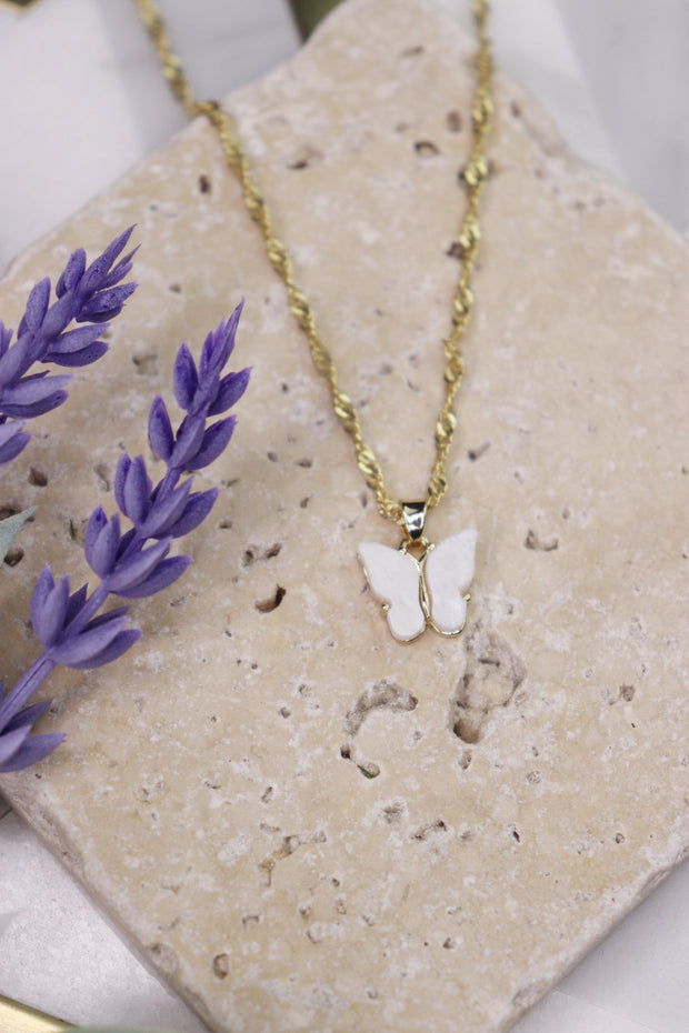 Butterfly Babe Necklace - Bridal Ivory