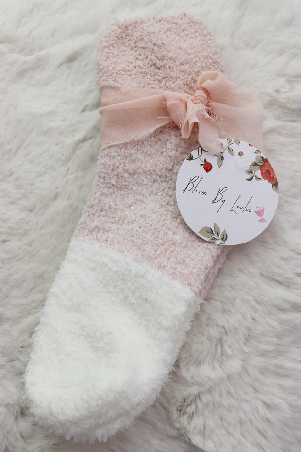 Winter Fuzzy Socks - Multi Pink