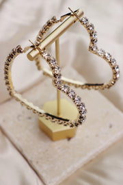 Heart Breaker Earrings - Gold