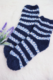Winter Fuzzy Socks - Blue Ocean