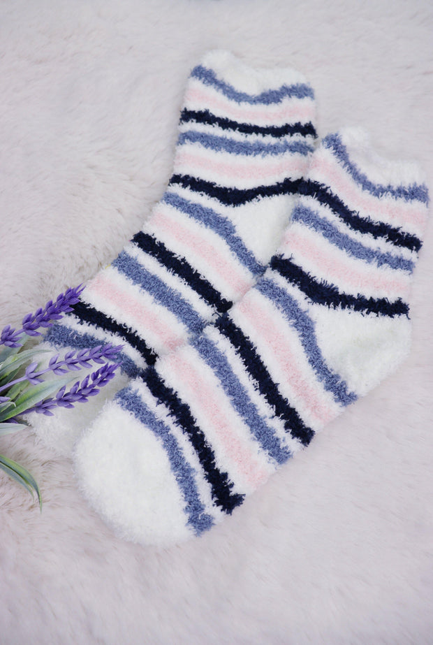 Winter Fuzzy Socks - Striped
