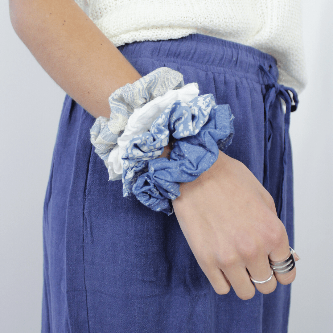 4pc Denim Scrunchies