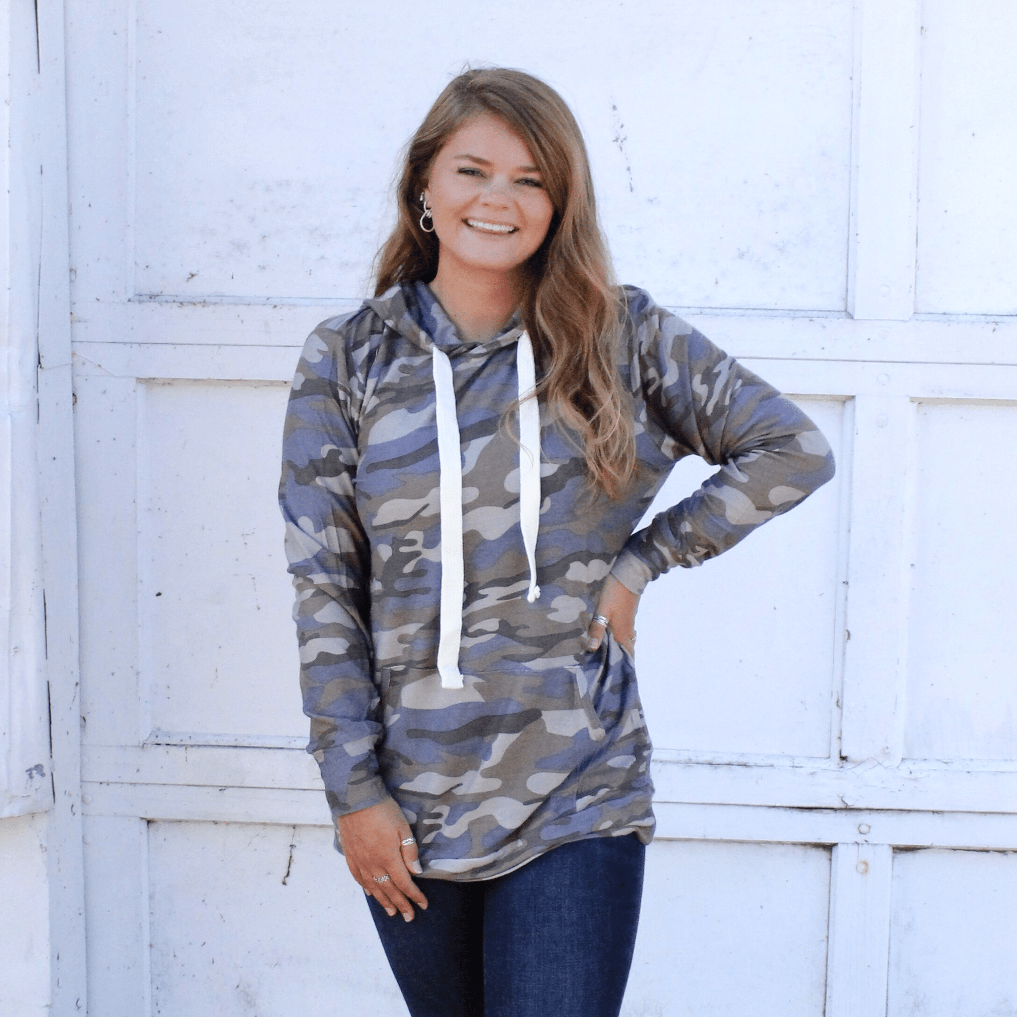 Dusty Camo Hooded Top