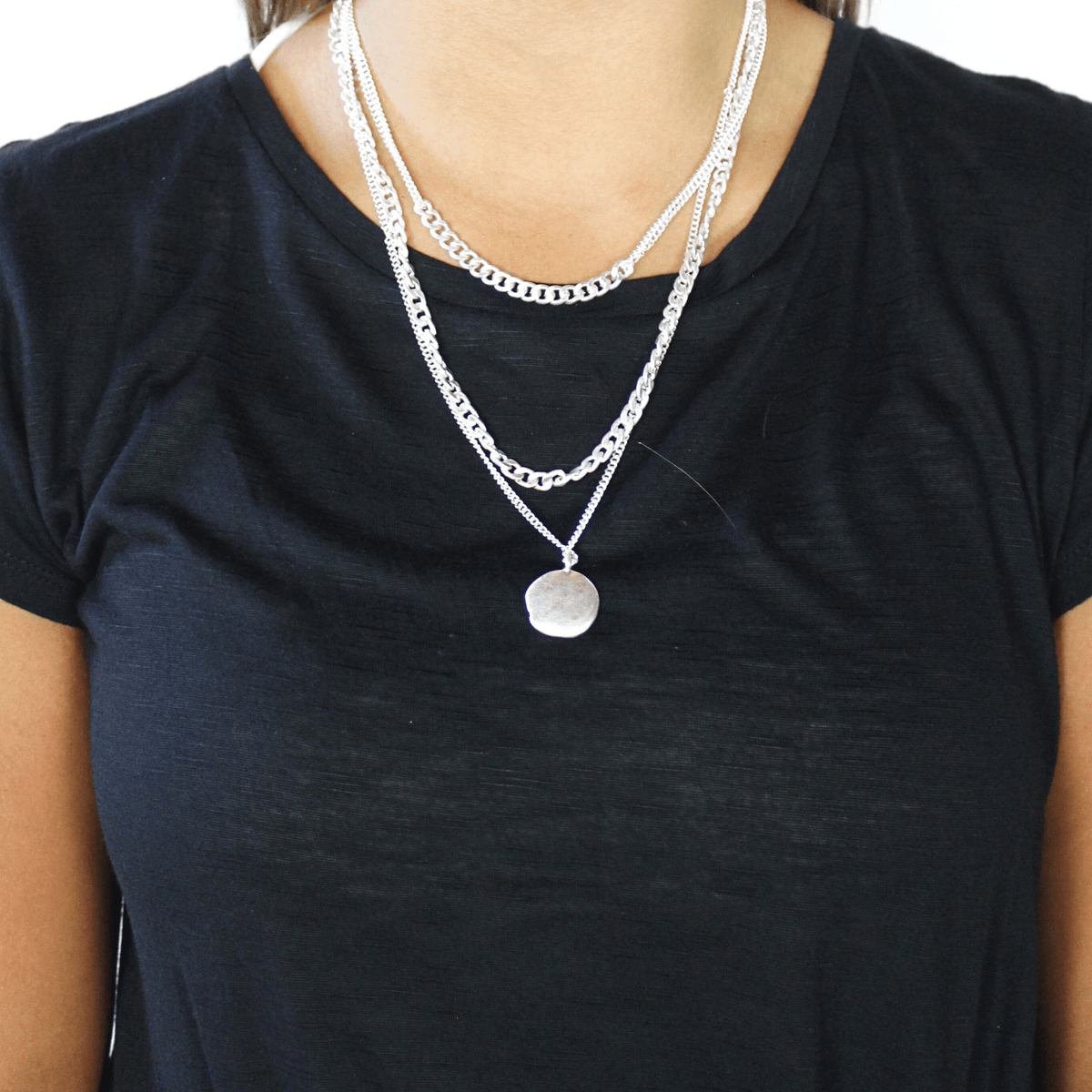 Layer Chain Coin Necklace