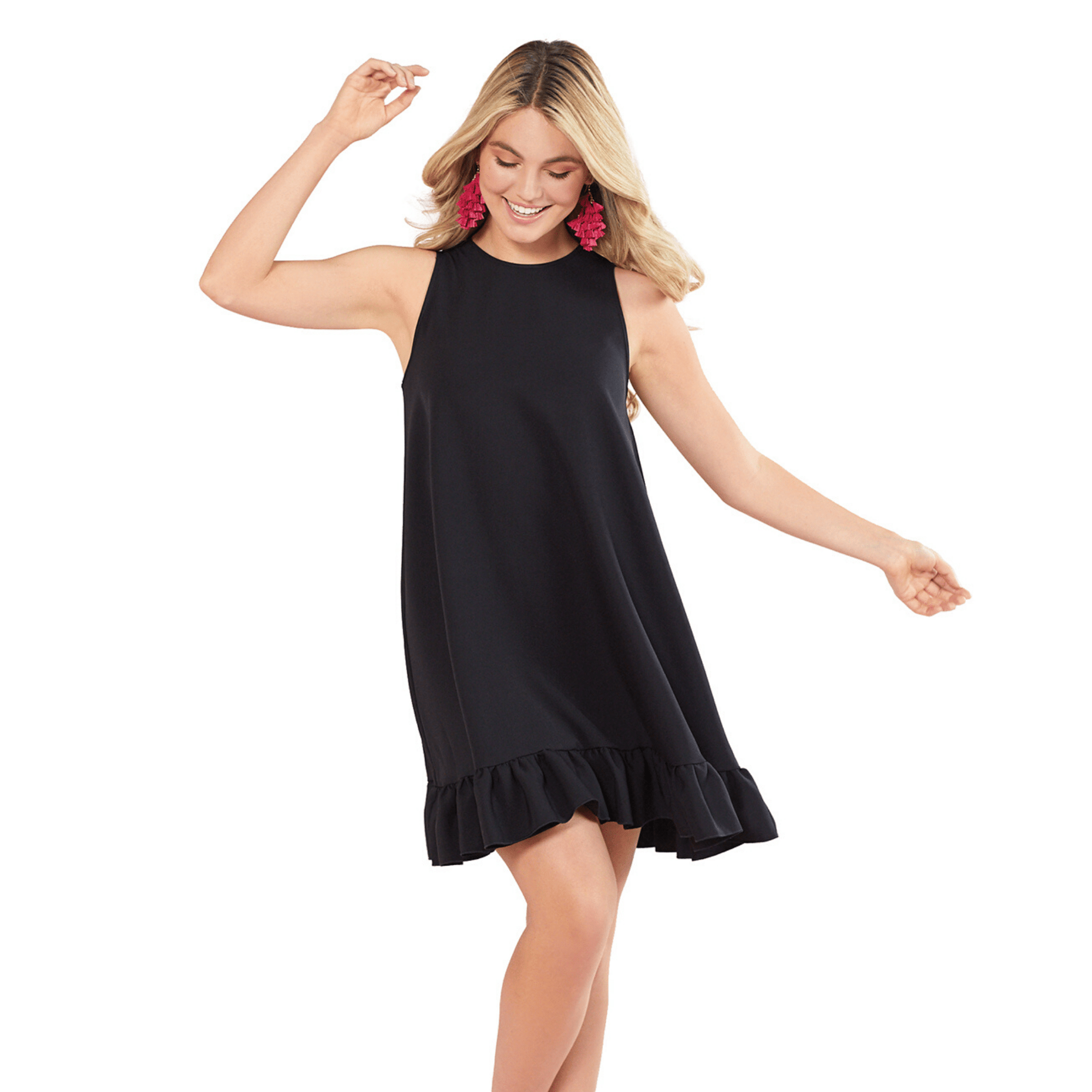 Black Mellie Swing Dress