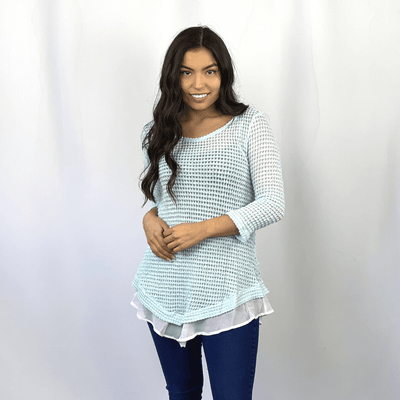 Popcorn Fabric Chiffon Top
