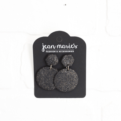 Clay Circle Hex Stack Earring