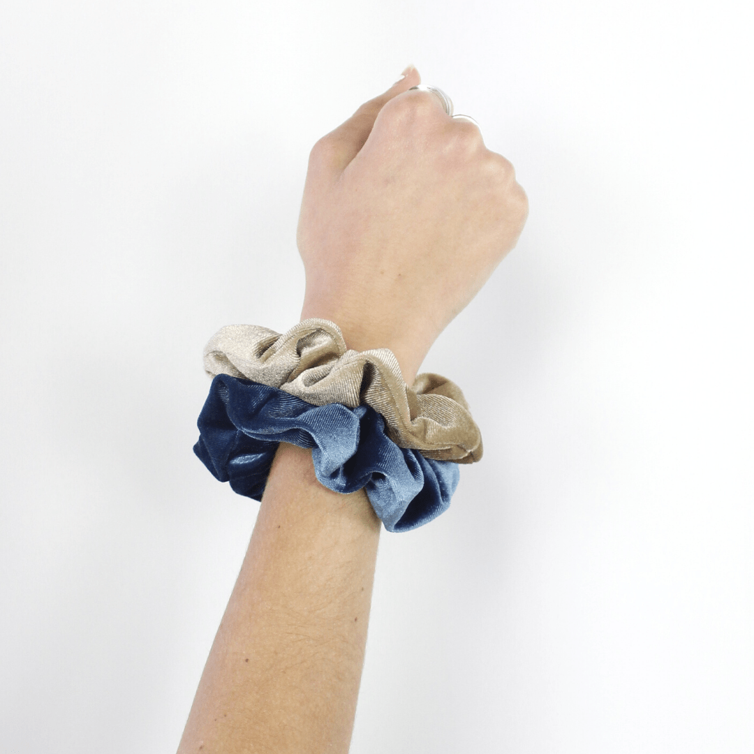 Blue Jean Scrunchies