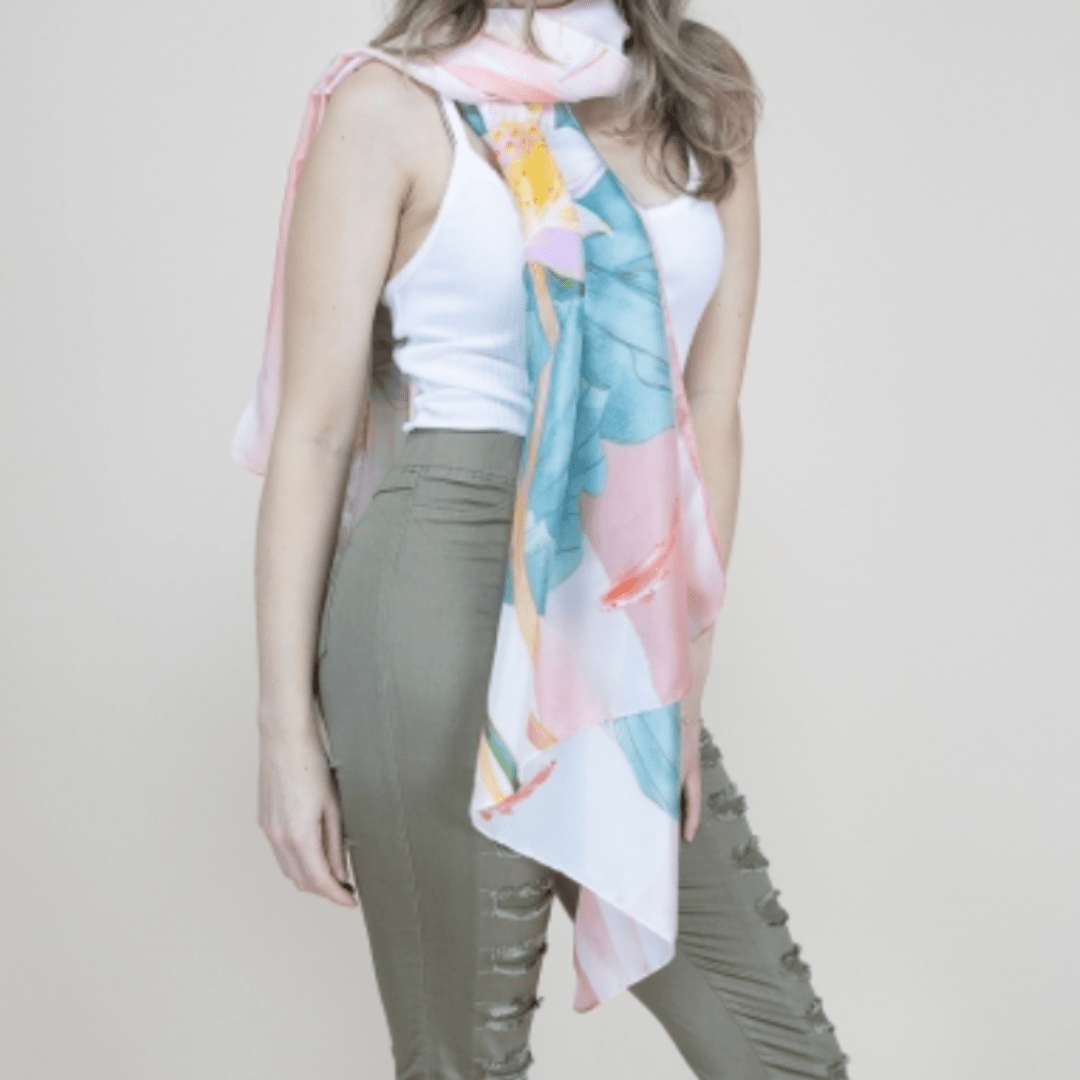 Floral Silky Scarf