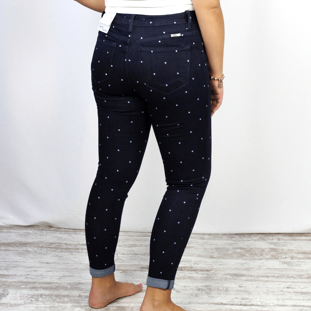 Polka Dot Gemma High Rise Skinny
