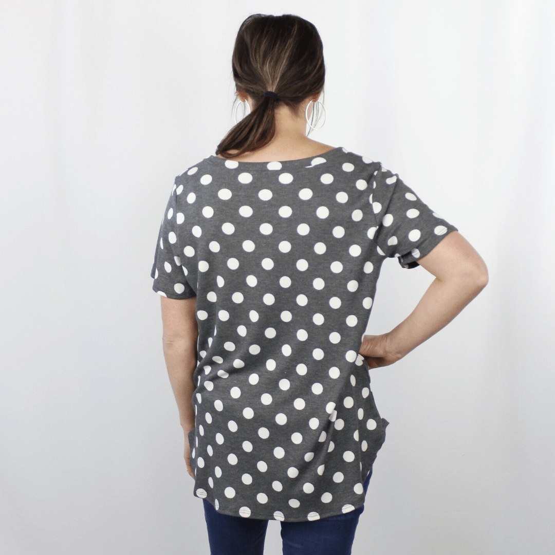 Grey Dot Thermal Top