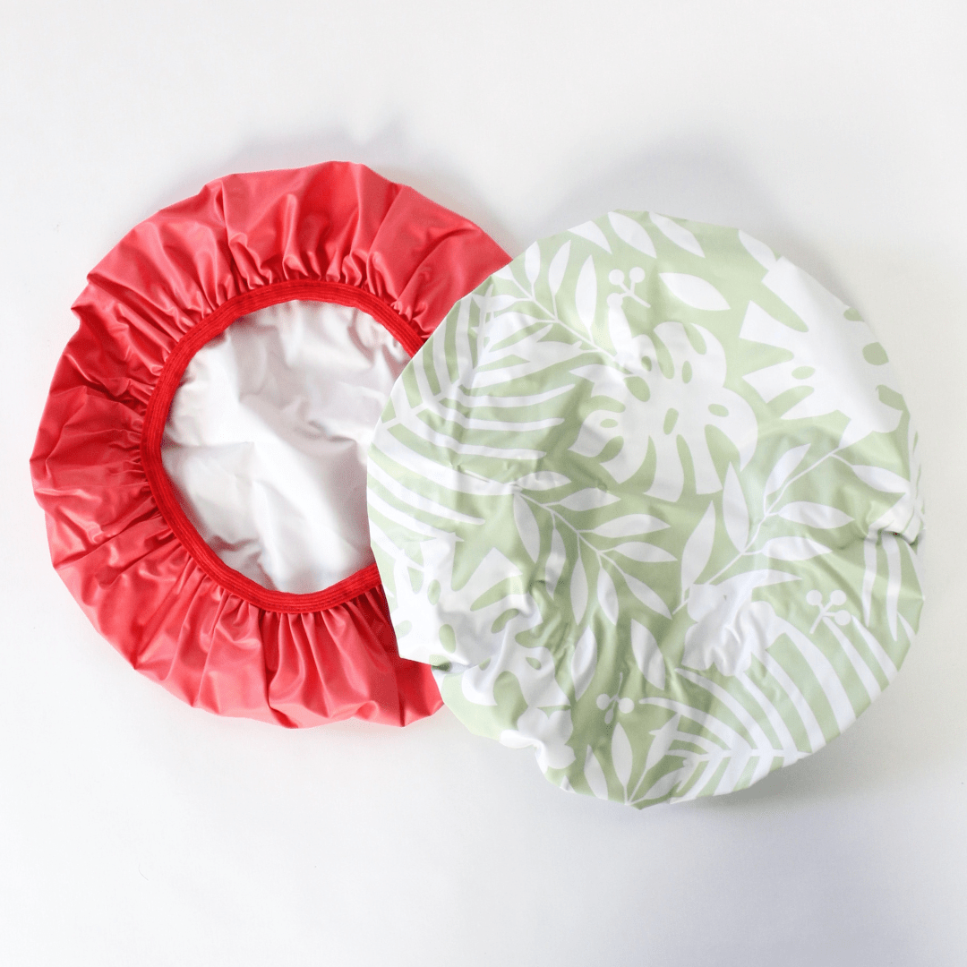 2 Pack Printed Shower Cap