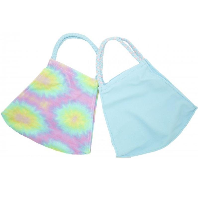 TS Tie Dye Pom Face Coverings 2 Pack