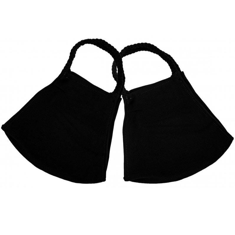 Black Pom Face Covering 2 pack