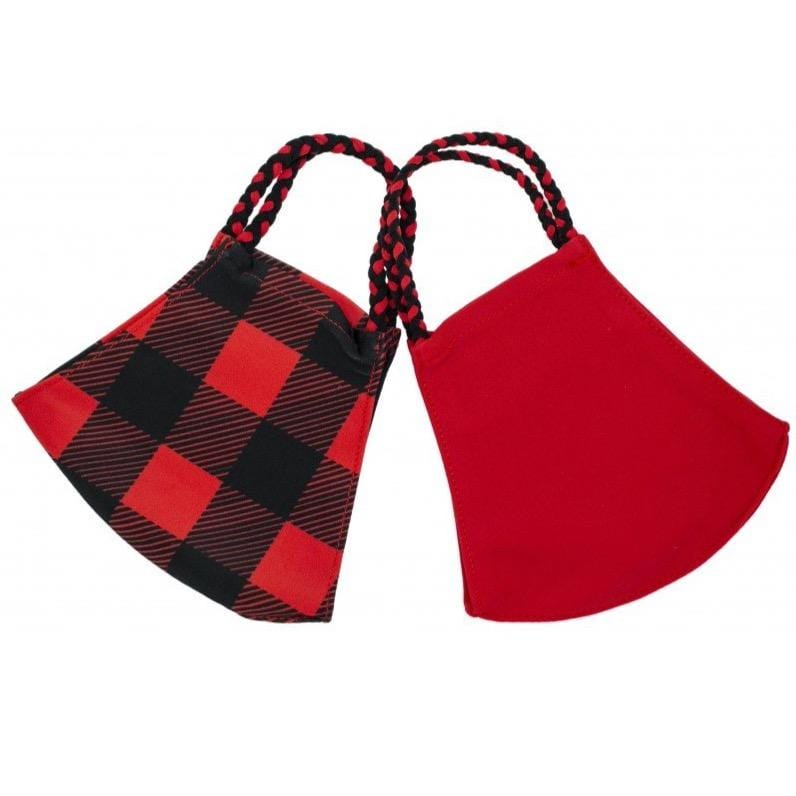 Buffalo Check Pom Face Covering 2 Pack