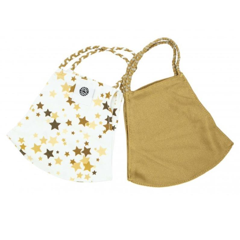 Gold Star Pom Face Covering 2 Pack