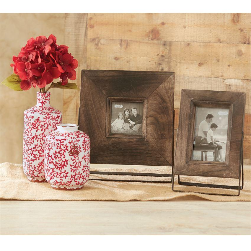 Large Distress Wood Easel Frame