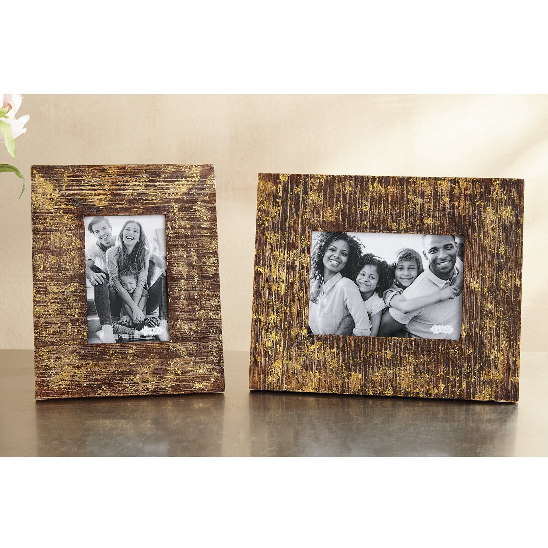 Wood Gold Foil 4x6 Frame