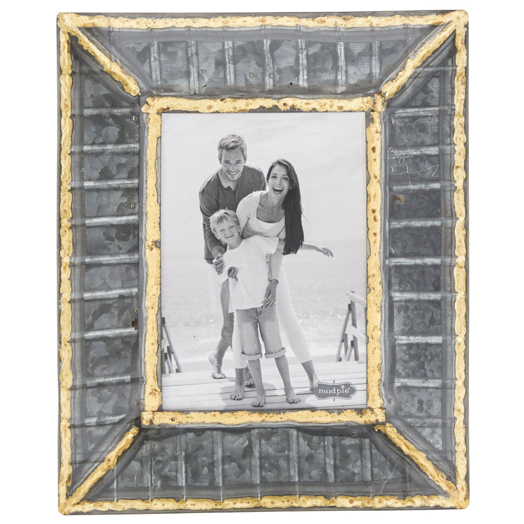 5x7 Tin Ribbed Frame