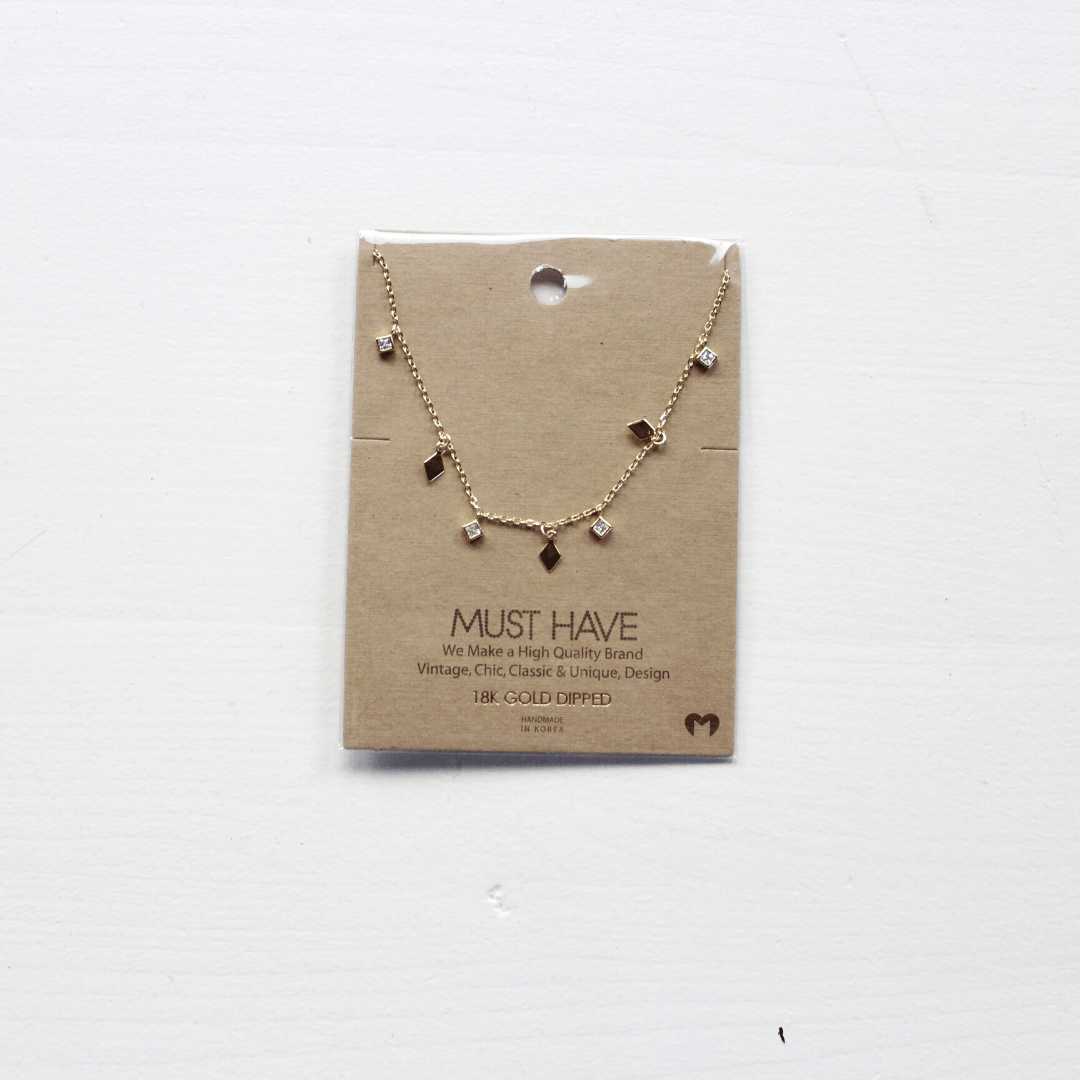Diamond Shape Charm Necklace