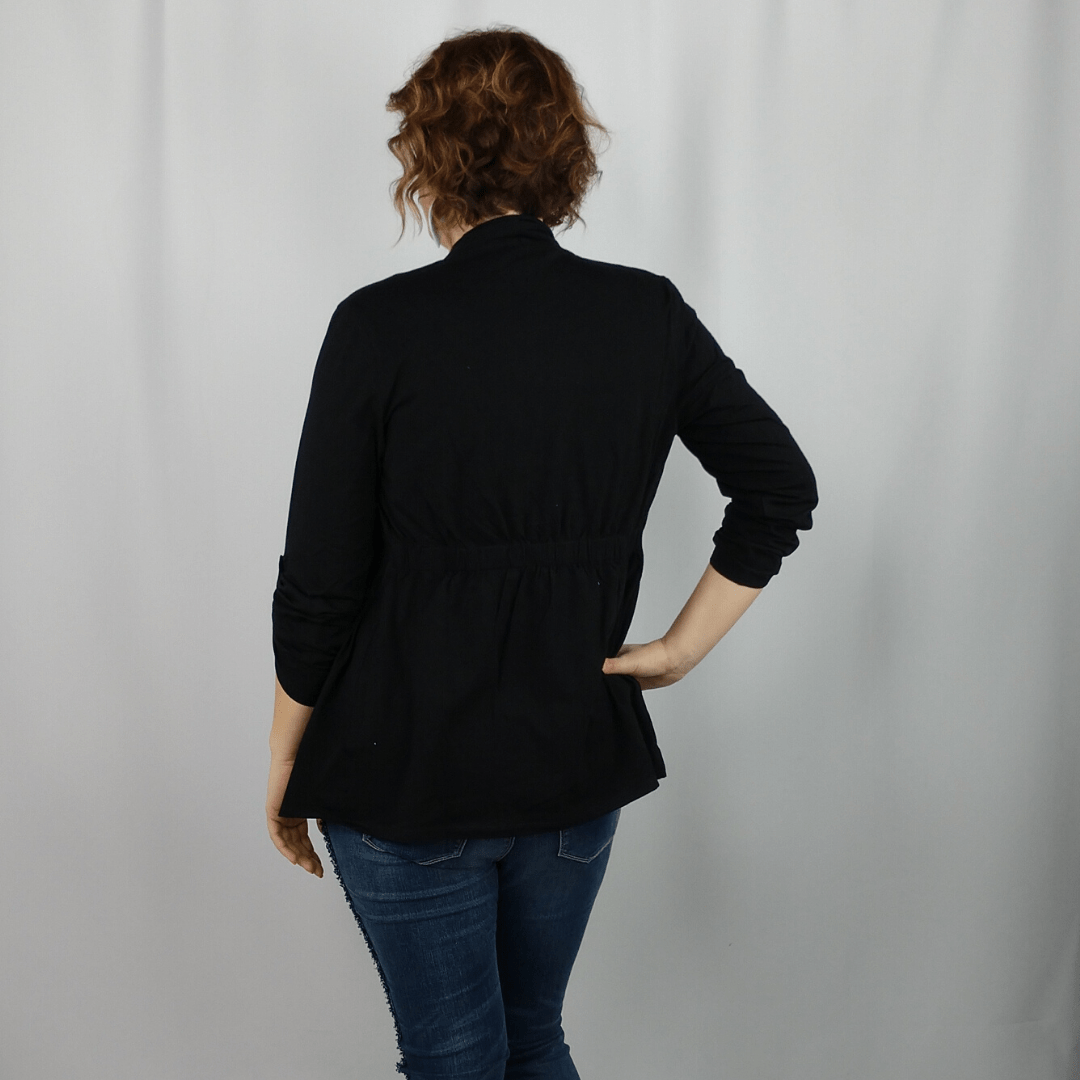 Black 2 in 1 Knit Jacket