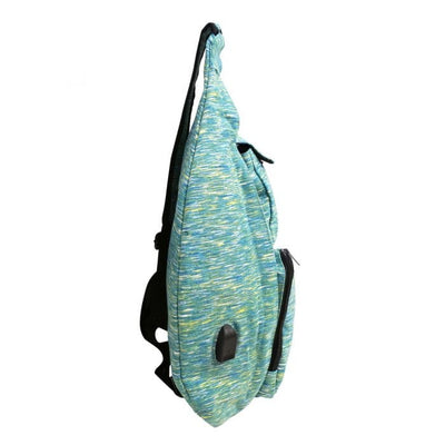 Teal Sporty Large Anti Theft Rucksack