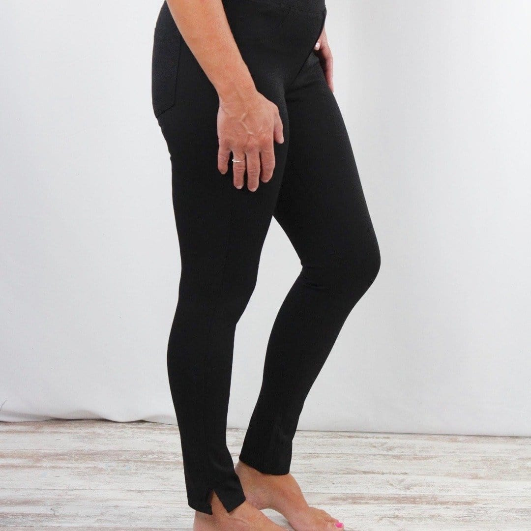Black Anna Pull On Pants
