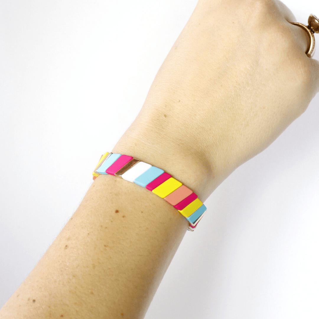 Stretch Slash Bar Bracelet
