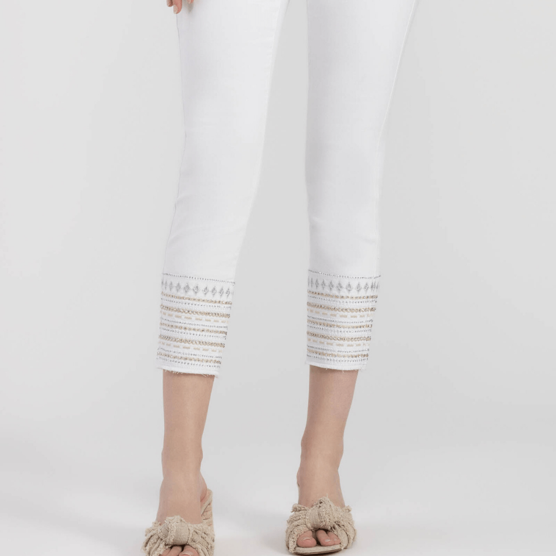 White Embellish Jegging