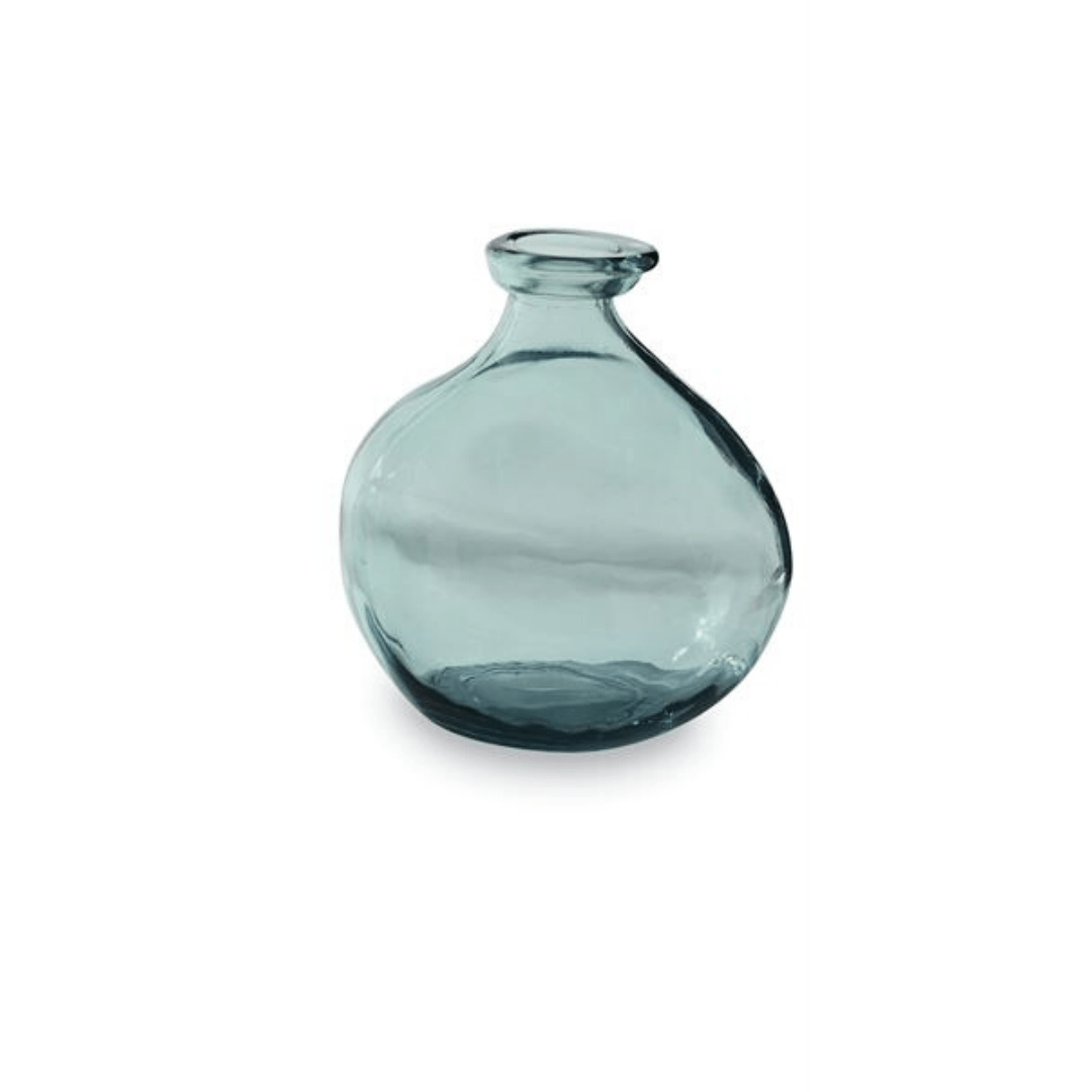 Grey Blue Short Vase