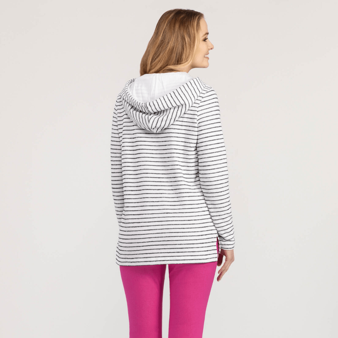 Striped Cozy Knit Hoodie