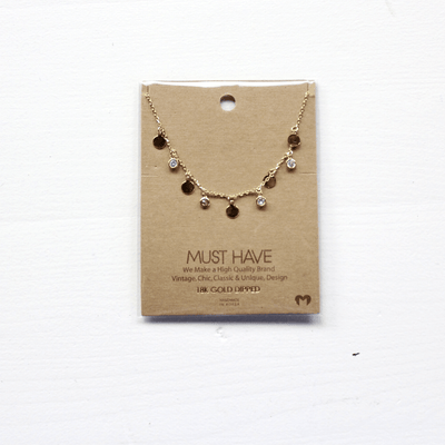 Mini Disc Charm Necklace