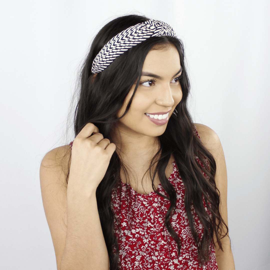 Geo Embroidered Headband