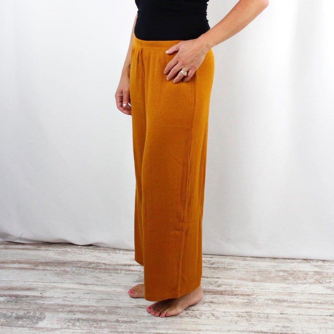 Wide Leg Knit Crop Pant