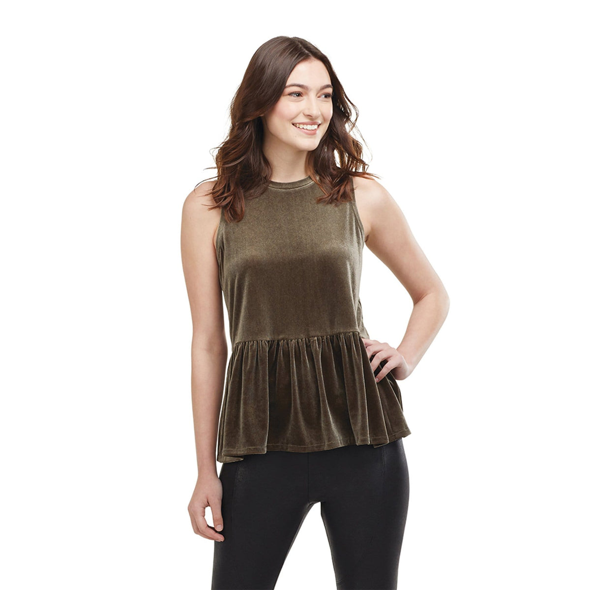 Sable Peplum Tank