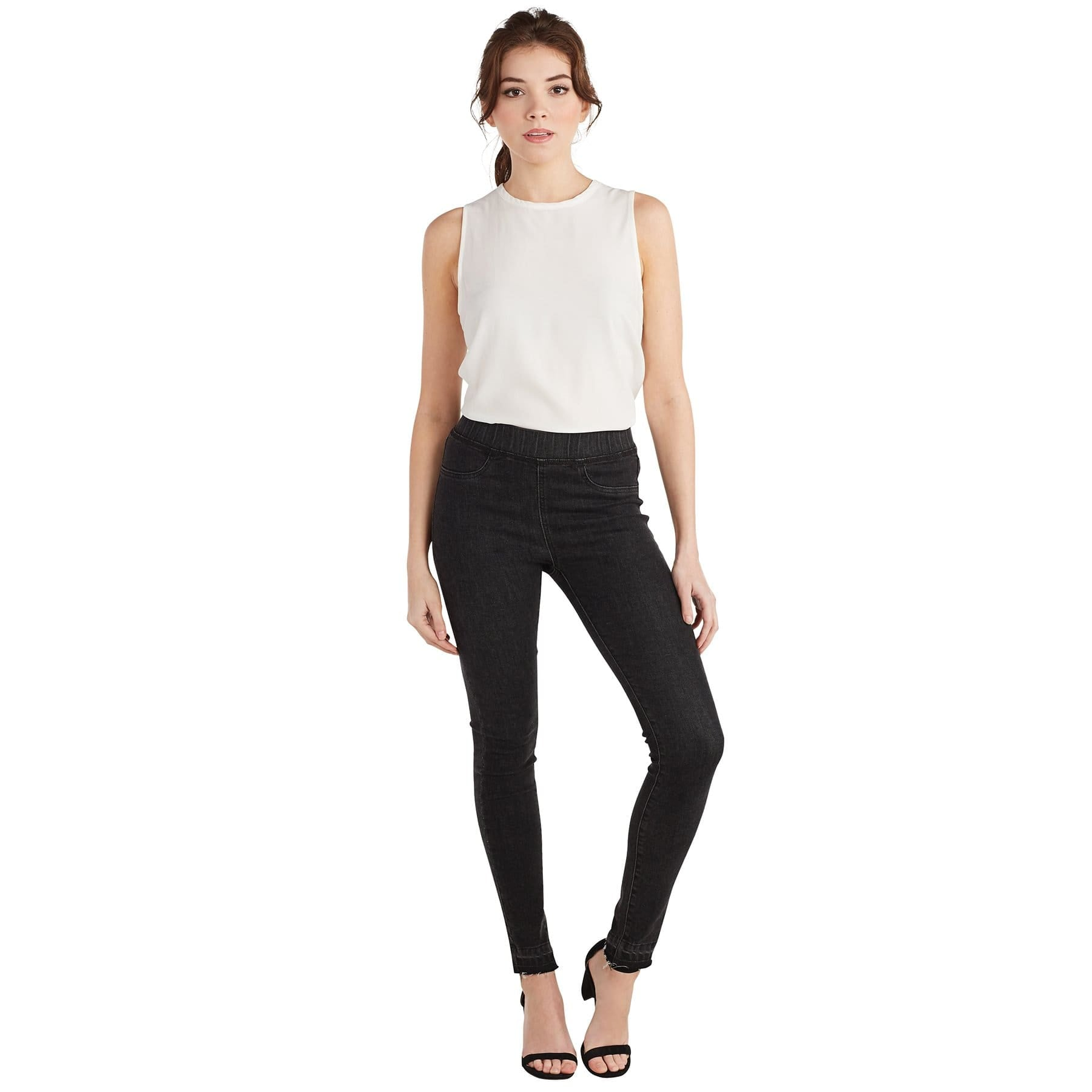 Sarah Denim Leggings Blck