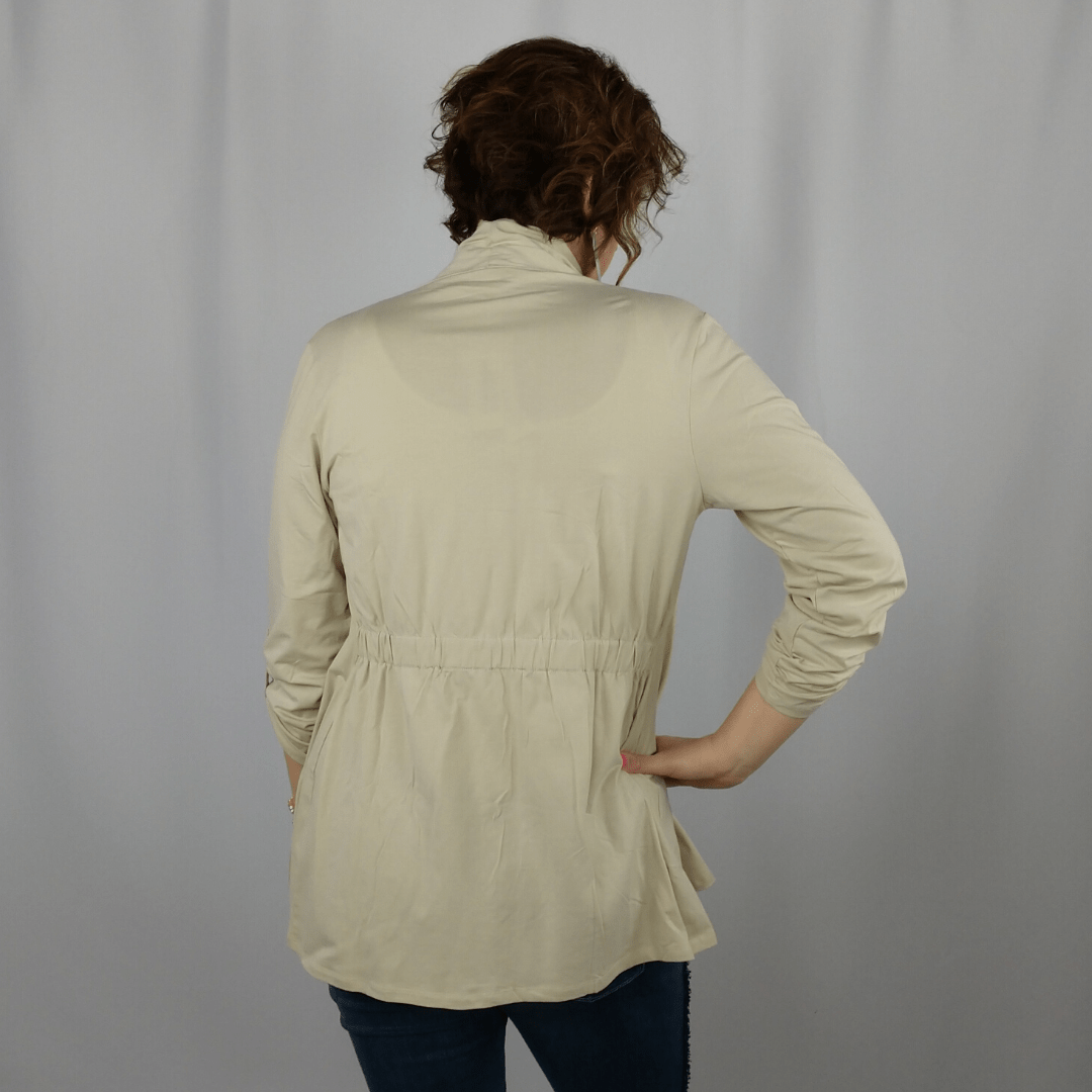 Almond 2 in 1 Knit Jacket