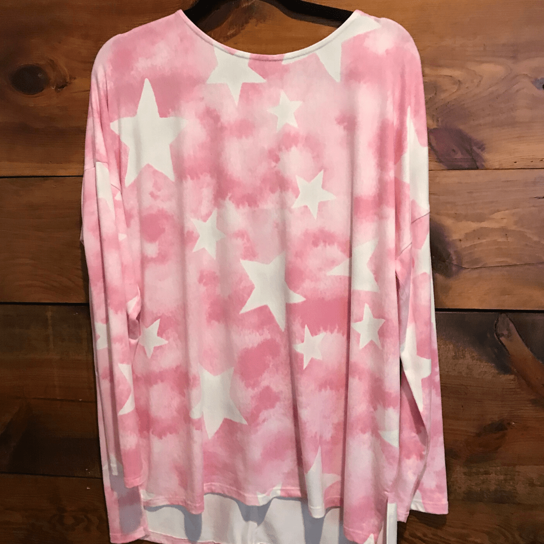 Pink Star Hacci Top