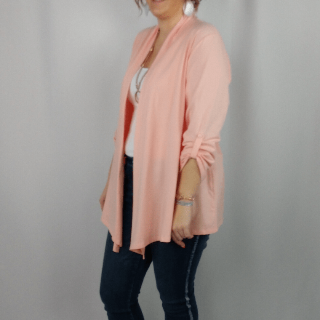 Peach 2 in 1 Knit Jacket
