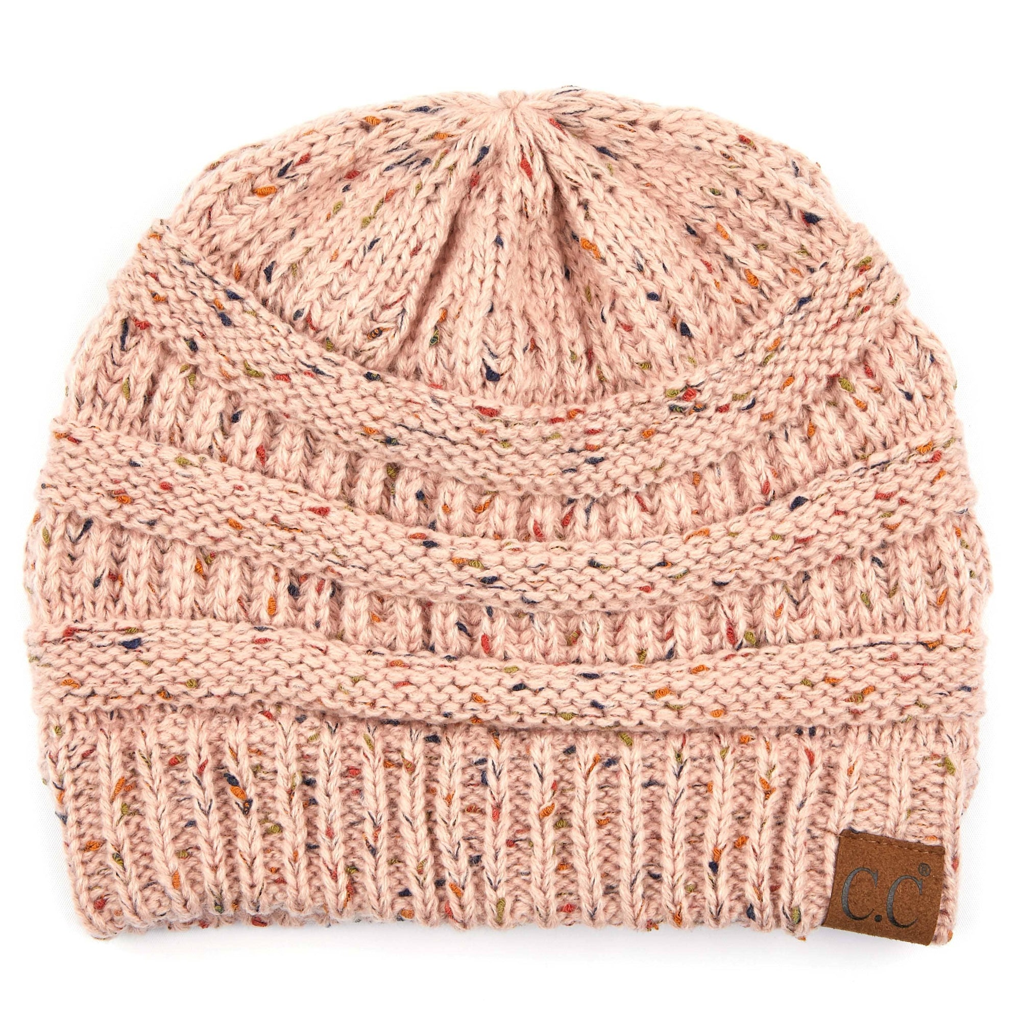 Cable Knit Confetti Hat