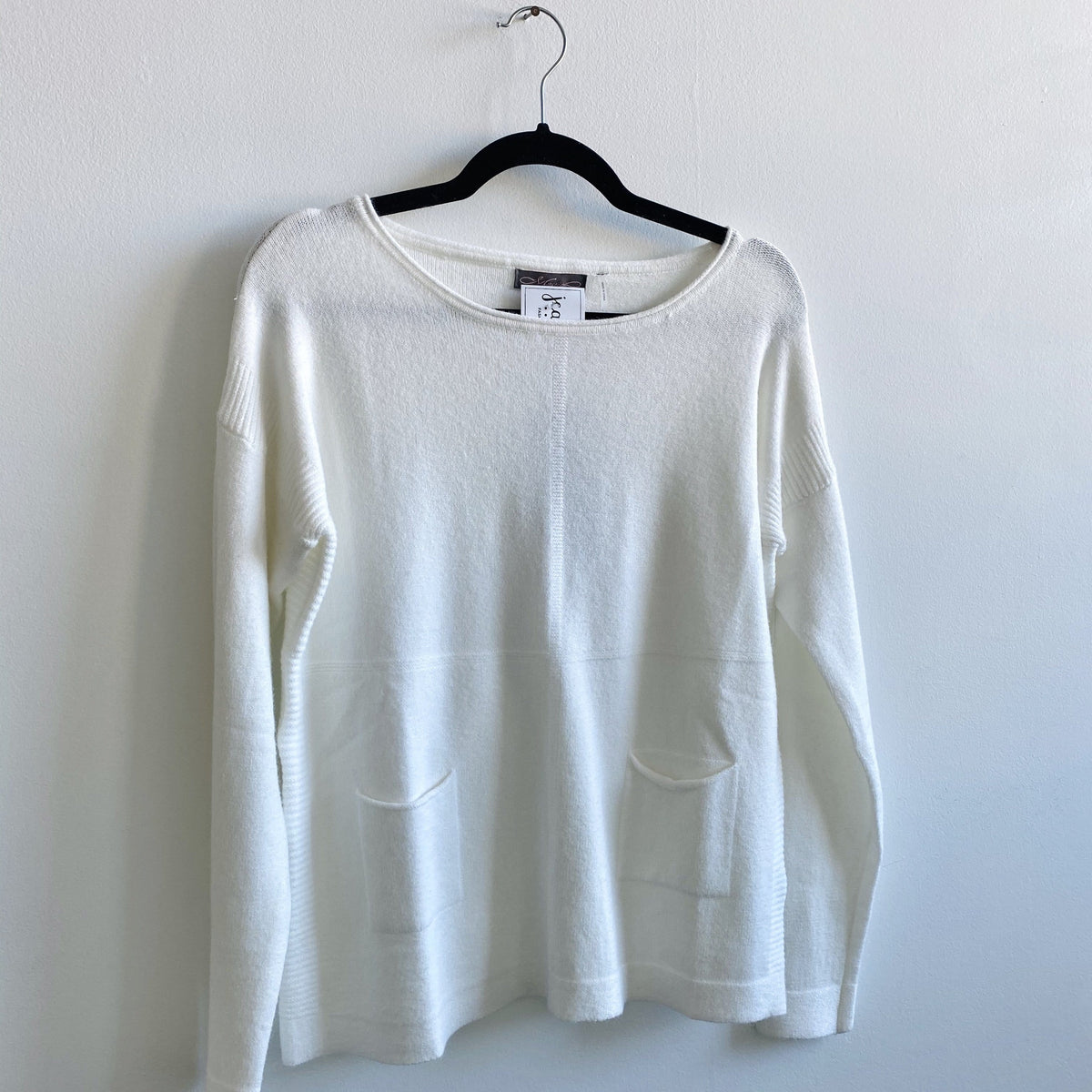 Ivory Pocket Sweater
