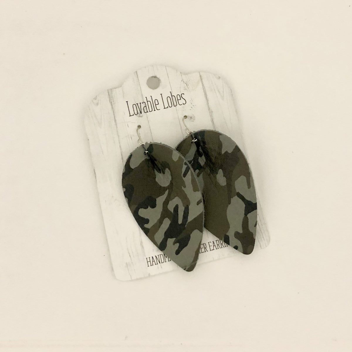 Lovable Lobes Leaf Leather Earring