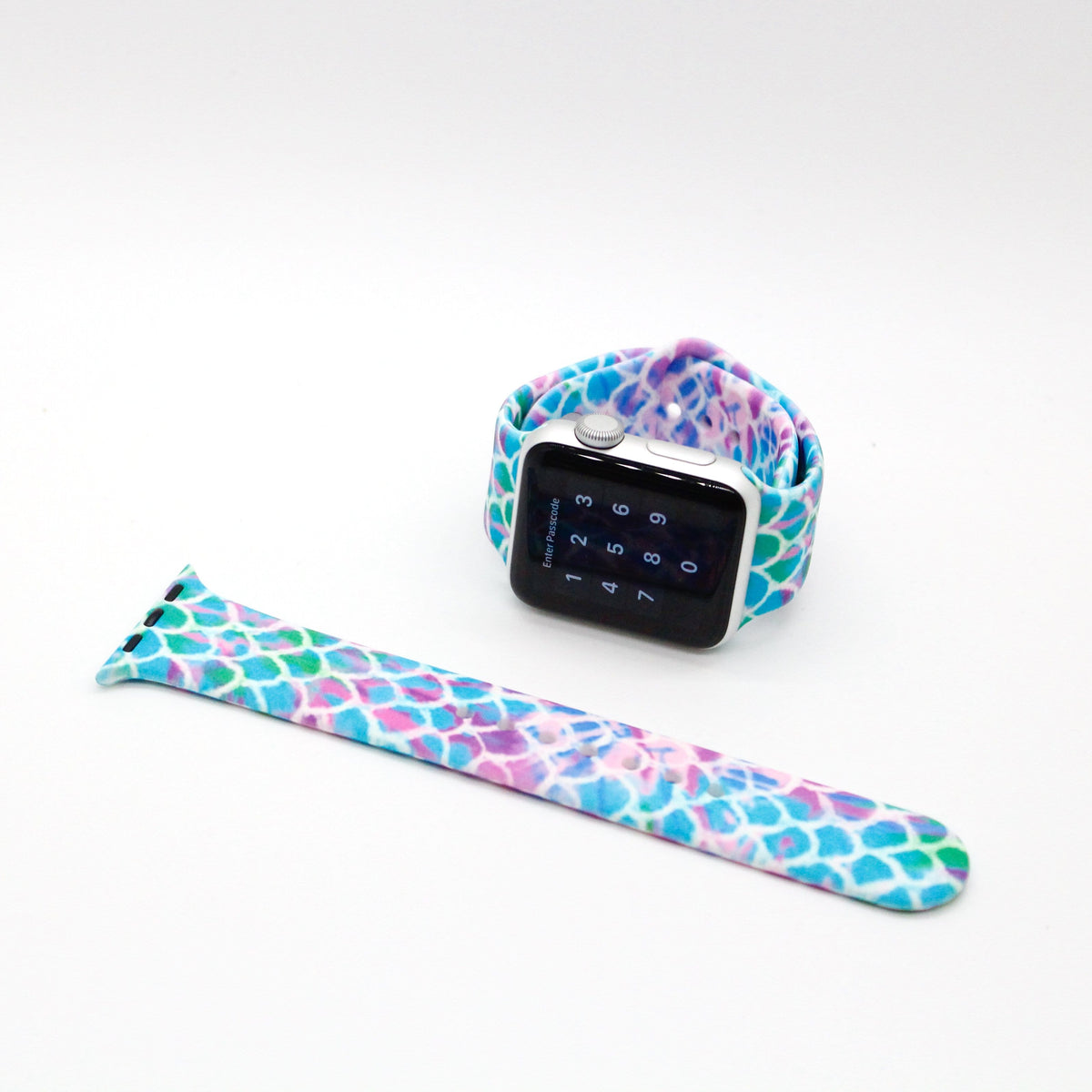 Blue Mermaid Scales Silicone Watch Band