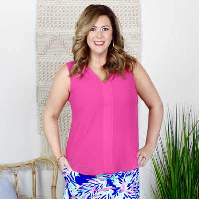 Fuchsia Logan Sleeveless Top