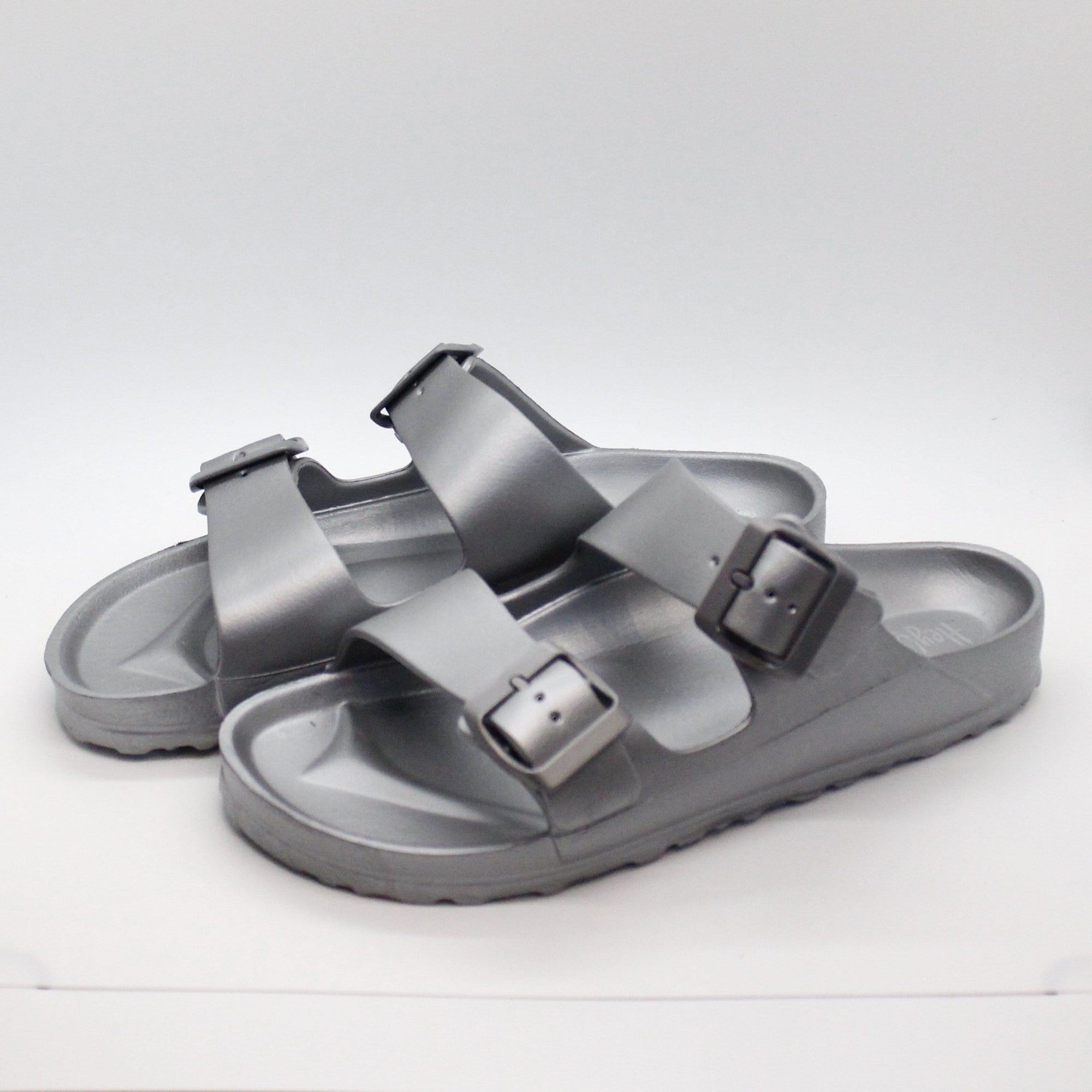 Silver Waterslide Slip On Sandal