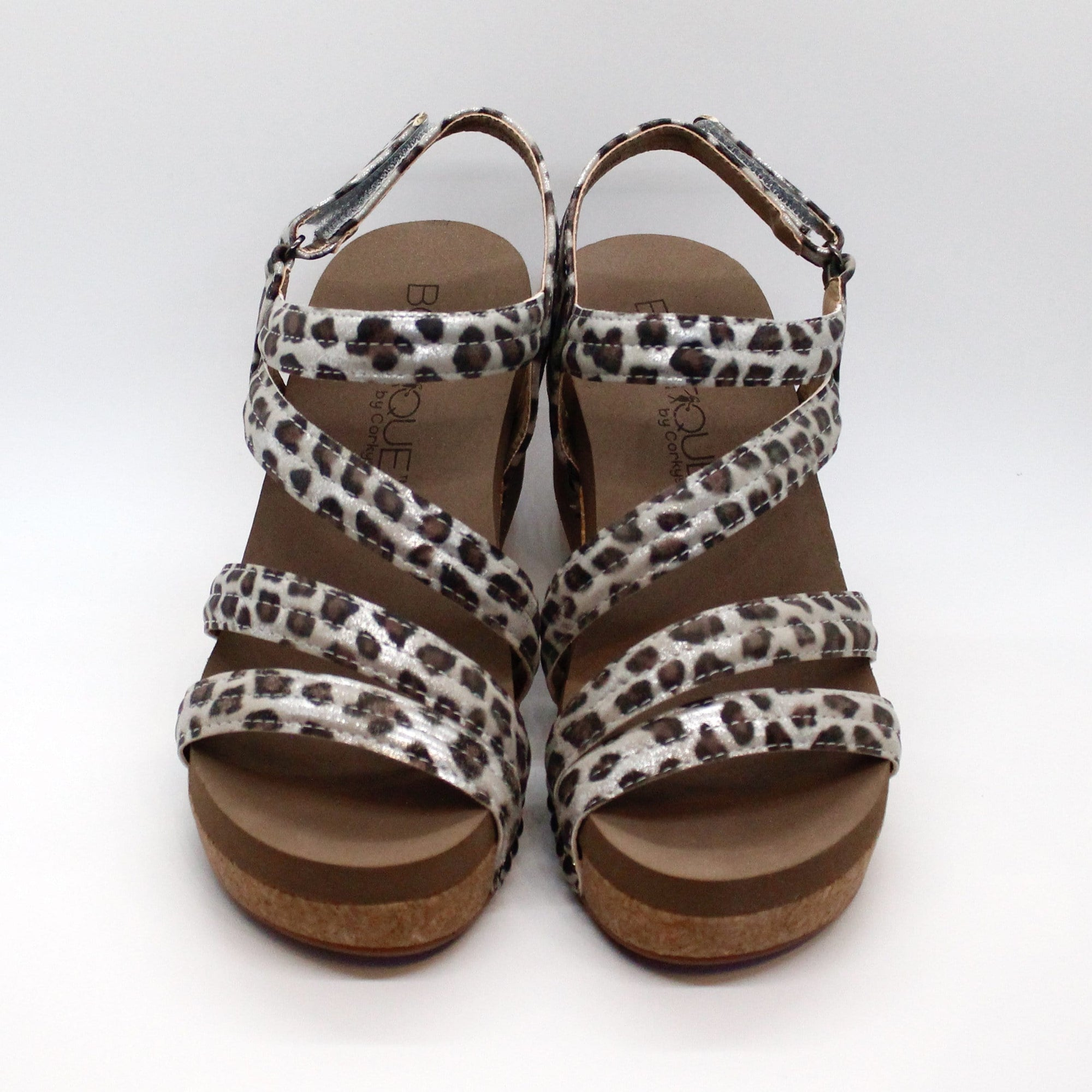 Silver Leopard Lifeguard Wedge